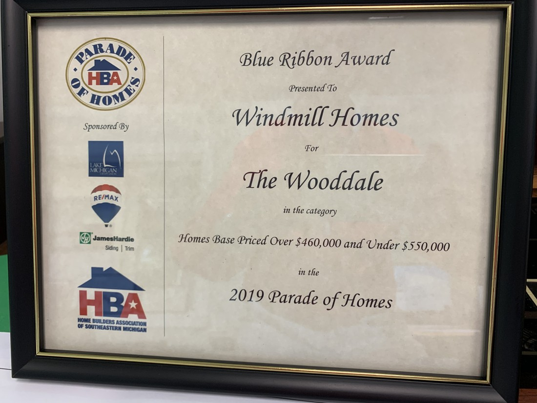 2019 - Blue Ribbon Award for Wooddale model - Blog - Windmill Homes - IMG_0709